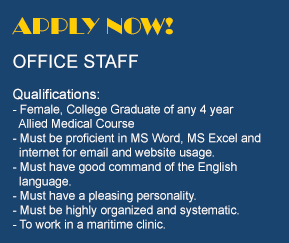Marine Medical Services: Jobs OFFICE STAFF